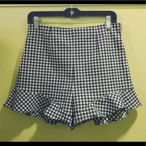 Zara gingham shorts (price is negotiable!)